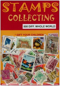 Worldwide 500 Diff. Stamps Collection from 45 Countries, Large & Small Mixed Lot