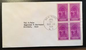 854 Washington Inaugural, First Day cover, Vic's Stamp Stash