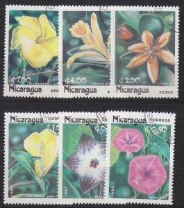NICARAGUA [1985] MiNr 2586-91 ( O/used ) Blumen