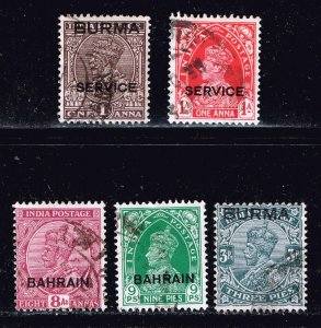 INDIA STAMP OVPT USED TAMPS COLLECTION LOT