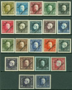 EDW1949SELL : AUSTRIA 1915 Scott #M1-21 Cplt set Imperf w/INVT 'FELDPOST' on all