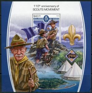SOLOMON ISLANDS 2017  110th  ANNIVERSARY OFTHE BOY SCOUT MOVEMENT  S/S  MINT NH