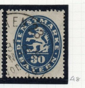 Bayern 1920 Official Early Issue Fine Used 30pf. NW-10756