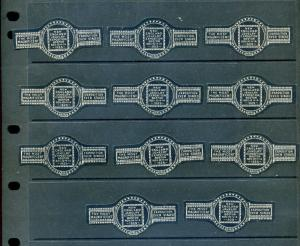 11 VINTAGE 1925 JEWELRY NEW ENGLAND EXPO POSTER STAMPS (L909) BOSTON MASS.