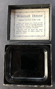 Vintage Watermark Detector tray in original box