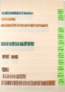 Dealer Stock Page of U.S. Used Revenue Stamps Scott Range R13 - R24 #138829 X