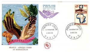 France, Worldwide First Day Cover, Madagascar