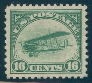 US Scott #C2 Mint, XF/S, Hinged, PSE (Graded 95)