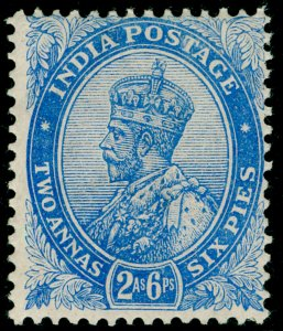 INDIA SG171, 2a 6p ultramarine, M MINT.