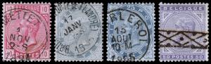 Belgium Scott 45-48 (1883) Used H F-VF, CV $82.50