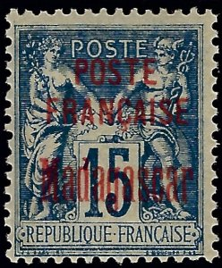Madagascar 1895 Scott #16 Mint OG F-VFSCV$85...Buy before prices go up!