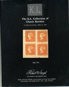 Siegel KL Collection of Worldwide Rarities