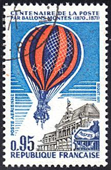 France # C44 used ~ 95c Balloon over Paris