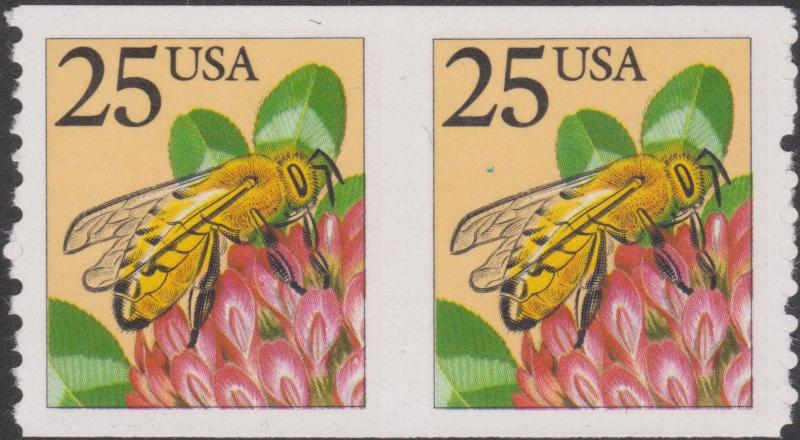#2281D BEE IMPERF BETWEEN MAJOR ERROR -- RARE -- WL817A