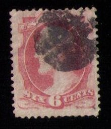 US Sc #148 Used Lincoln Carmine 6c F-VF