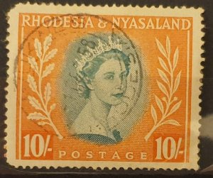 Southern Rhodesia & Nyasaland H/Val Postage Stamp 1954 F/Used Condition SG14