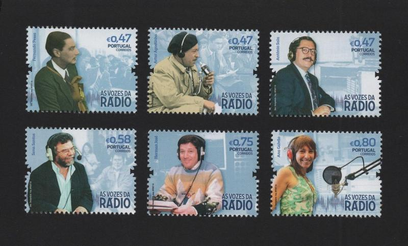 PORTUGAL stamps 2016  set  voices of RADIO