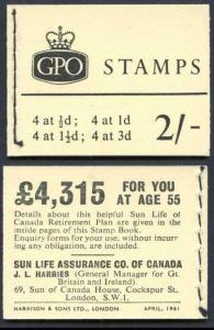 N4p 2/- Booklet April 1961 with Blue Phosphor