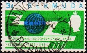 Bermuda. 1965 3d S.G.184 Fine Used