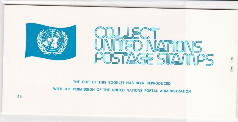 United Nations Mint Never Hinged Flags Stamps Booklet ref R 18472