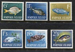 STAMP STATION PERTH Norfolk Island #49-60 Fish & Scenes Short Set  MNH -CV$14.00