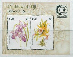 Fiji 1995 SG929 Orchids Singapore Exhibition MS MNH