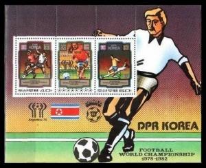 1980 Korea, North 2035-36/B79 1982 World championship on football of Spain 8,50
