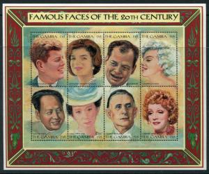 GAMBIA - MIni Sheet #1805 MNH Famous Faces of 20th Century - FOS203