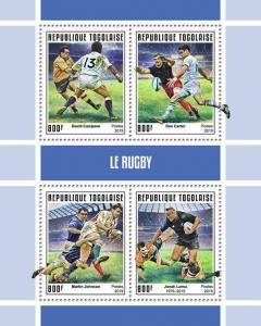Z08 IMPERF TG190145a TOGO 2019 Rugby MNH ** Postfrisch