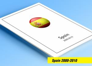 COLOR PRINTED SPAIN 2000-2010 STAMP ALBUM PAGES (146 illustrated pages)