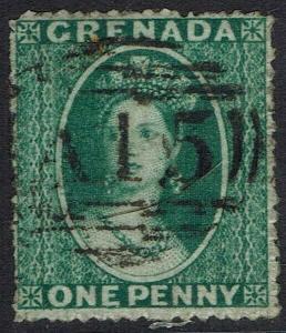 GRENADA 1861 QV CHALON 1D NO WMK USED