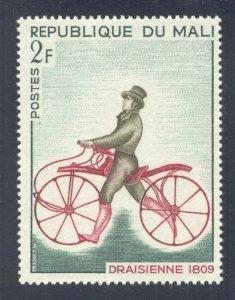 Bicycles: Draisienne (1809), 1968 Republic of Mali, Scott #109. Free WW S/H