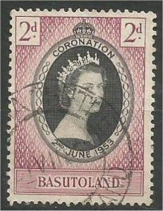 BASUTOLAND, 1953, used 2p, Coronation  Scott 45