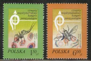 Poland Scott 2274-75 MNH** 1978 Mosquito set