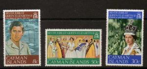 CAYMAN ISLANDS SG427/9 1977 SILVER JUBILEE MNH