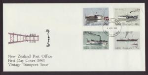 New Zealand  795-798 Steam Ships River Boats U/A FDC