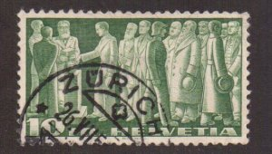 Switzerland   #246  used  1938  First Federal Pact   10fr