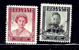 Southern Rhodesia 67 -68 Used 1947 issues    (ap1111)