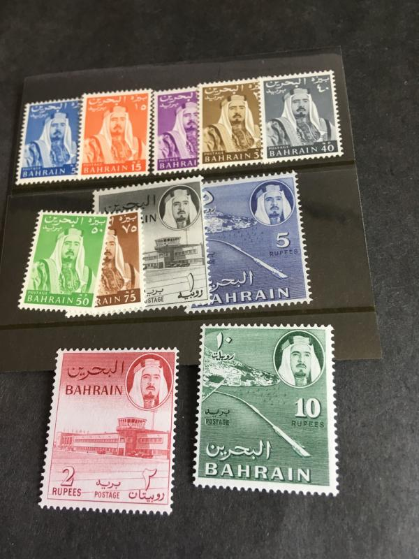Bahrain 2015 Scott #130-140 Mint F-VF-H Cat. $57.95 Cpl. Set 1964 Sheik& Airport