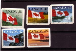 CANADA SET OF QUICK STICK  (5) USED STAMPS  LOT#27