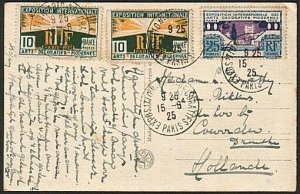 FRANCE 1925 postcard Exhibition stamps and cancel..........................15066