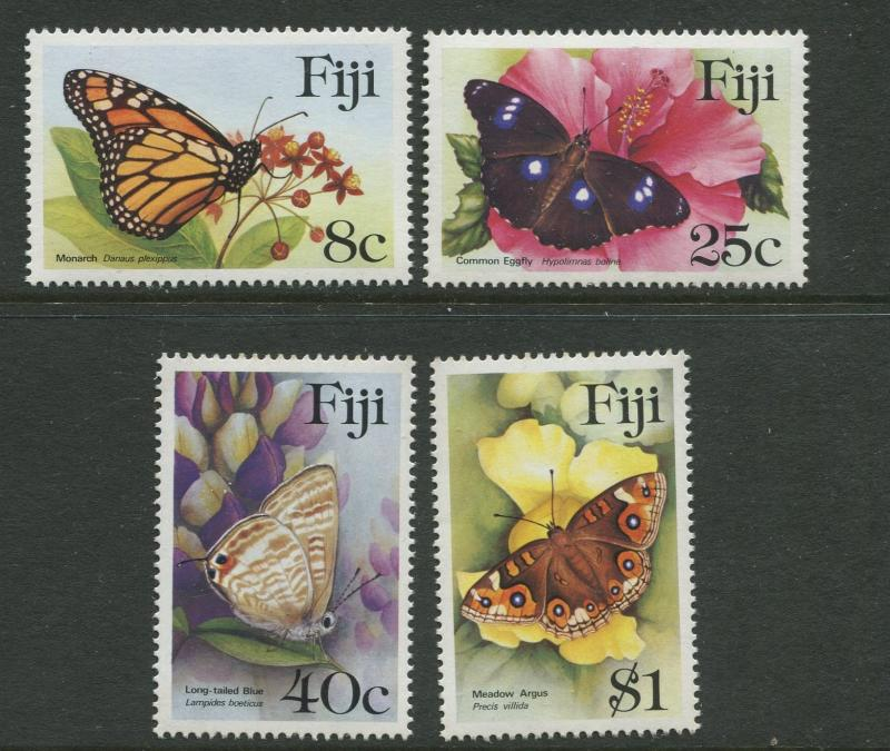 Fiji - Scott 523-526 - Butterflies Issue -1985 - MNH - Set of 4 Stamps