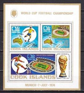 Cook Is., Scott cat. 405a. World Cup Soccer s/sheet. ^