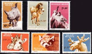 Belgium #B690-8 MNH cpl animals
