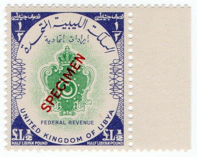 (I.B) Libya Revenue : Federal Duty £L½ (specimen)