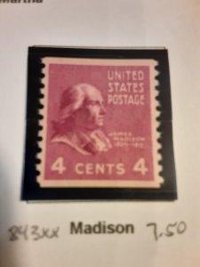 United States #843             MNH