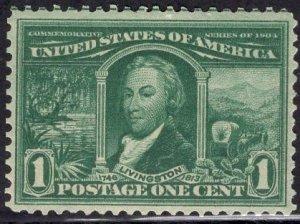 US Stamp Scott #323 Mint Hinged SCV $22.50. Nice Margins.