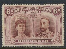 British South Africa Company / Rhodesia  SG 144  MH   see details and scan