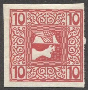 AUSTRIA 1908  Sc P17  10h Mercury Newspaper stamp MNH, VF cv $14