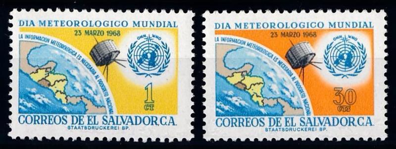[66104] El Salvador 1968 Space Travel Weltraum Satellite  MNH